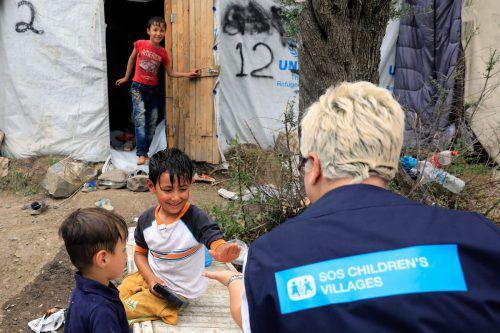 SOS-Kinderdorf hat auch ein Hilfsprojekt auf der griechischen Insel Lesbos. SOS KD
