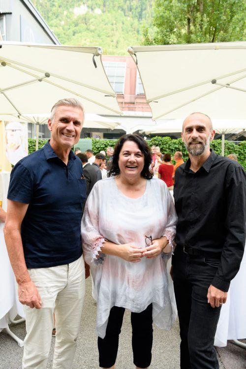 Stadtplaner Gabor Mödlagl (l.) sowie Manuela Hack und Paul Stampfl.