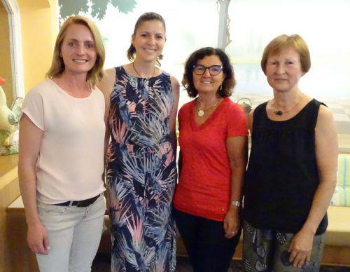 Stadträtin Angelika Benzer, stellvertretende GF Elisabeth Nachbaur, GF Simonetta Lampert und Obfrau Sylvia Hämmerle. tf