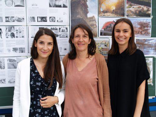 Susanne Schädler, Projektmitarbeiterin Verena Dünser und Pia Ammann (Werkraum).
