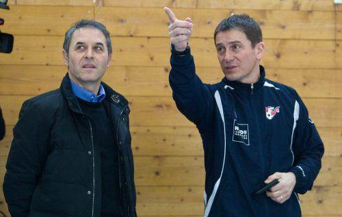 Teamchefs wie Marcel Koller (l.) durfte Andreas Kopf in der Mehrerau begrüßen.VN