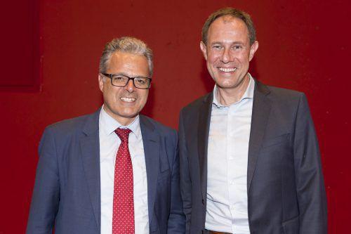 Tourismusforscher Harald Pechlaner (l.) mit Tourismusdirektor Christian Schützinger.