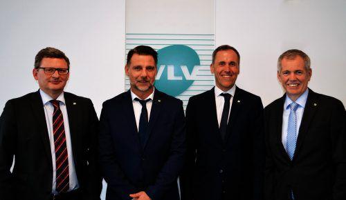 V. l.: VLV-Direktor Klaus Himmelreich, die Fachreferenten Andreas Kollmann und Michael Salzmann sowie Direktor Robert Sturn. Fa