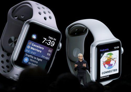Vice President Craig Federighi erläutert die neuen Funktionen der Apple Watch.