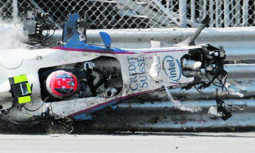 Viel Glück für Robert Kubica beim Crash 2008.Reuters