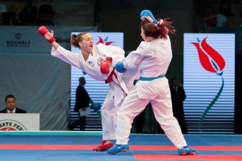 Vizeeuropameisterin Bettina Plank steht beim Premier League Turnier in Istanbul im kleinen Finale der 50-kg-Kategorie.ÖKB