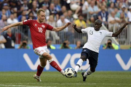 Weder Dänemark noch Frankreich bemühten sich, das Spiel mit aller Macht zu gewinnen. Resultat: ein müdes 0:0.afp