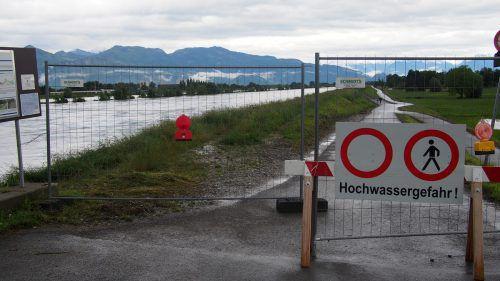 Die Stadt Dornbirn informiert über persönlichen Schutz vor Hochwasser. Land