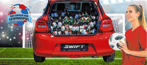 Wie viele Bierflaschen sind im Kofferraum? Bis 22. Juni 2018 gibt es einen Jahresvorrat an Fohrenburger Bier zu gewinnen.