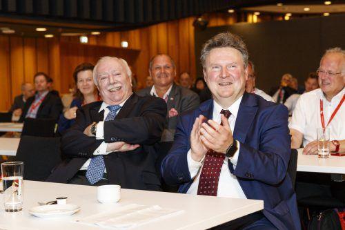 Wiens neuer Bürgermeister Michael Ludwig (r.) übernahm in Feldkirch die Führung im Städtebund von Michael Häupl. Wache, Städtebund