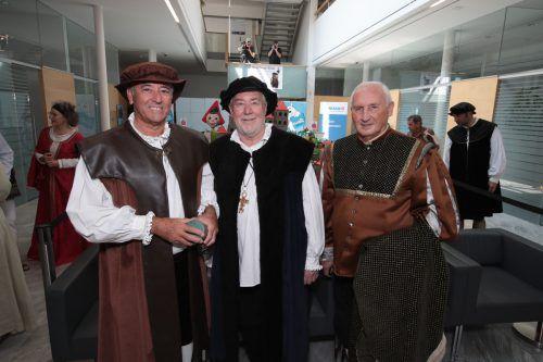 Wolfgang Matt mit Josef Mähr und Dieter Preschle.