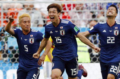 Yuya Osako erzielte den Siegtreffer für Japan im Match gegen Favorit Kolumbien.ap
