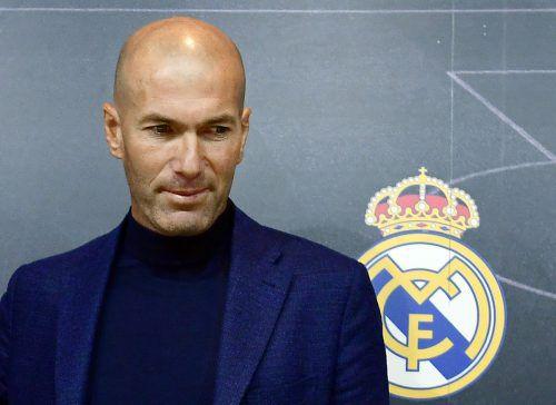 Zinedine Zidane möchte eine Auszeit vom Dasein als Fußballtrainer nehmen.afp