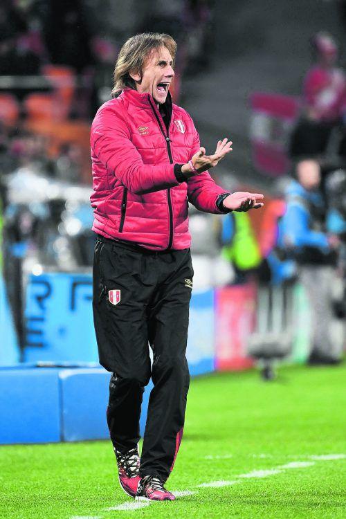 Zwei Niederlagen: Perus argentinischer Trainer Ricardo Gareca. ap