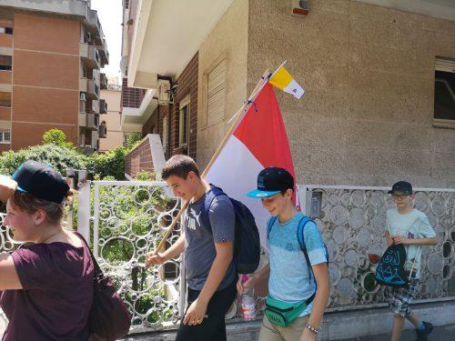 100 Ministranten aus Vorarlberg erkundeten während ihrer Wallfahrt Rom. Erlacher