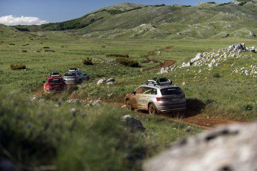 190 PS Leistung, Allradantrieb und Geländefeatures: Der neue Skoda Kodiaq Scout meisterte 800 Kilometer auf größtenteils unbefestigten Wegen mit Bravour.werk