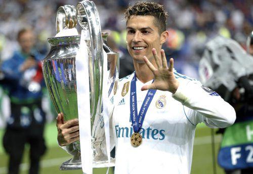 Als vierfacher CL-Sieger verlässt Cristiano Ronaldo nun Real Madrid.ap
