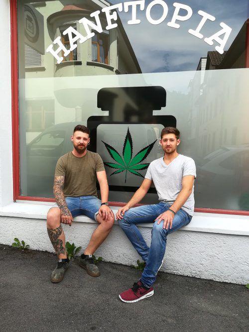 Am 2. August eröffnen Mike und Rick Mészáros in Bregenz ihren Shop. hanftopia