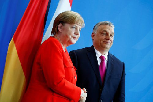 Angela Merkel und Viktor Orban haben unterschiedliche Sichtweisen.reuters