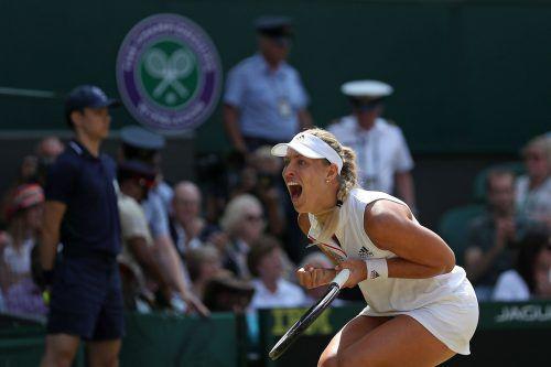 Angelique Kerber nimmt zum zweiten Mal Anlauf auf den Sieg in Wimbledon. Wieder ist im Finale Serena Williams die Gegnerin. ap