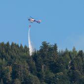 Waldbrand in Götzis