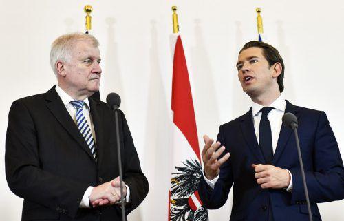 Außenminister Horst Seehofer und Kanzler Sebastian Kurz haben nun ein neues, gemeinsames Ziel. apa