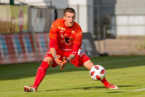 Austria-Lustenau-Neuzugang Kevin Kunz hielt in seinem ersten Bewerbspiel im ÖFB-Cup gegen USV Scheiblingkirchen seinen Kasten sauber.vn
