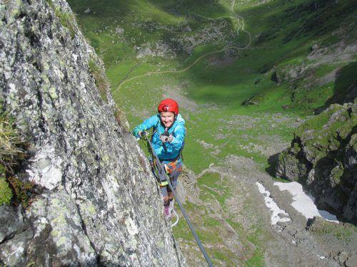 Bald geschafft: Dann bleibt auch genügend Zeit, um die wunderbare Aussicht über Berg und Tal zu genießen. fuge