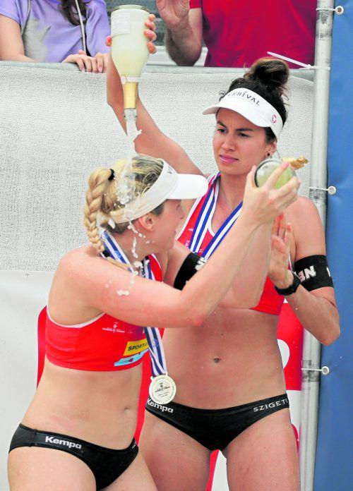 Bei der EM auf dem Prüfstand: Lena Plesiutschnig und Katharina Schützenhöfer. gepa