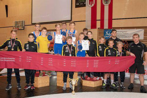 Bei der ÖRSV-Schülermeisterschaft waren die Klauser Nachwuchsringer mit neun Medaillen die Nummer eins.Verein