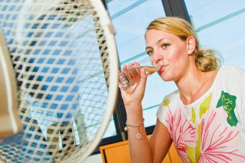 Bei Hitze heißt es für alle auf genug Flüssigkeitszufuhr zu achten. VN/Steurer