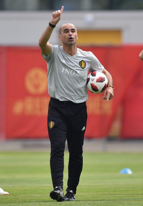 Belgiens Teamchef Roberto Martinez traut seiner Elf das Finale zu.afp