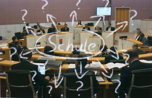 Bildungsfragen standen im Mittelpunkt der Aktuellen Stunde am zweiten Tag der Landtagssitzung. VN/STeurer