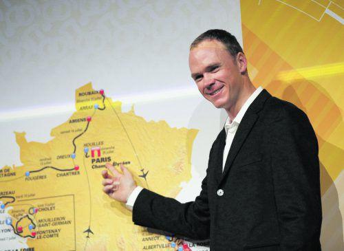 Chris Froome möchte in Paris wieder als Sieger einrollen.ap