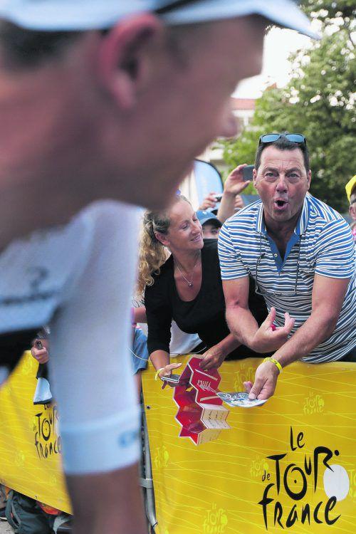 Christopher Froome wird bei der Tour von den Zuschauern immer wieder mit seinem nicht geklärten Dopingproblem konfrontiert. ap
