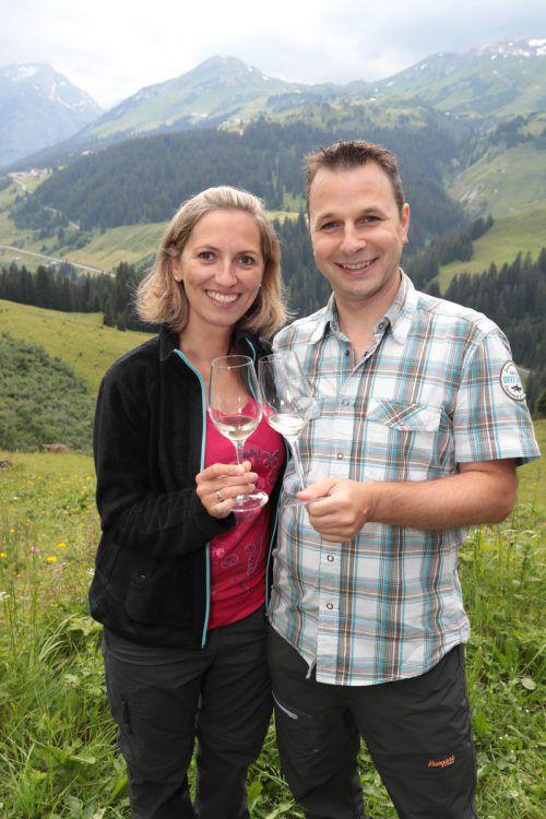 Claudia und Weingroßhändler Marcel Böhler.