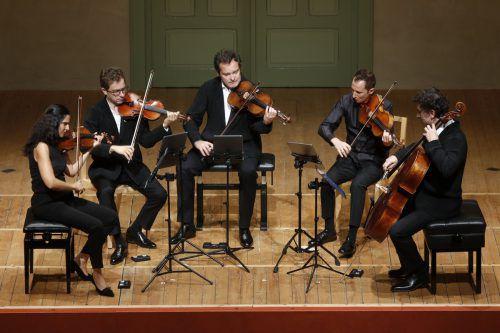 Das Belcea-Quartett mit dem französischen Bratschisten Antoine Tamestit. Schubertiade