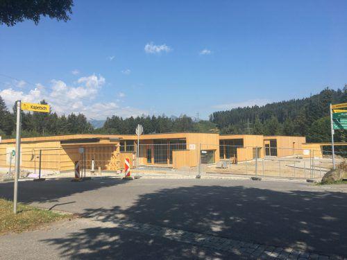 Das ehrgeizige Kinderhausprojekt in Göfis geht in die letzte Bauphase. VN/GMS
