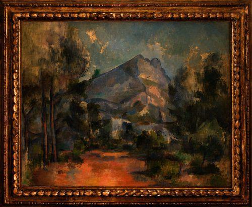 """Das Gemälde """"La Montagne St Victoire"""" von Cézanne bleibt in Bern. KmB"""
