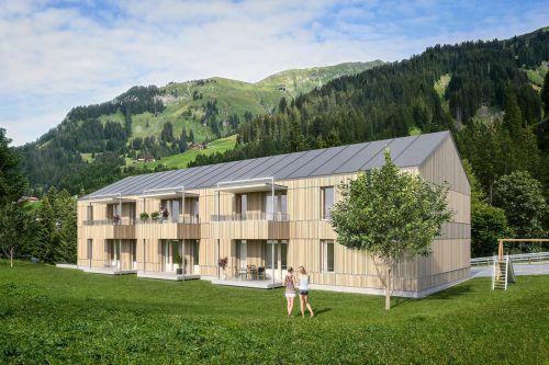 Das Konzept Wohnen 500 plus überzeugt die Gemeinden. Im Bild die geplante Anlage in Schröcken. Vogewosi
