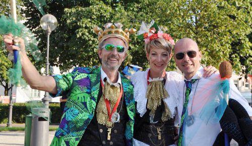 Das Prinzenpaar Marco und Melanie David mit Zeremonienmeister Roland Hagspiel.