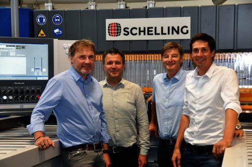 Das Schelling-Management: Stefan Gritsch, Dietmar Nussbaumer, Wolfgang Rohner und Christoph Geiger (v.l.). schelling