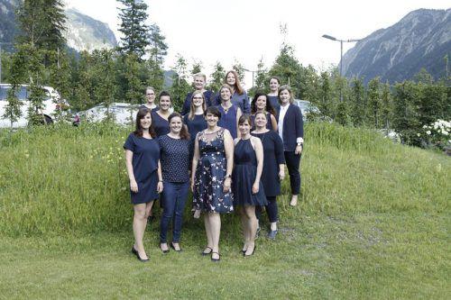 Das Team der Alpenregion Bludenz präsentierte sich beim Tourismustag in Braz Ton in Ton.Mischkulnig