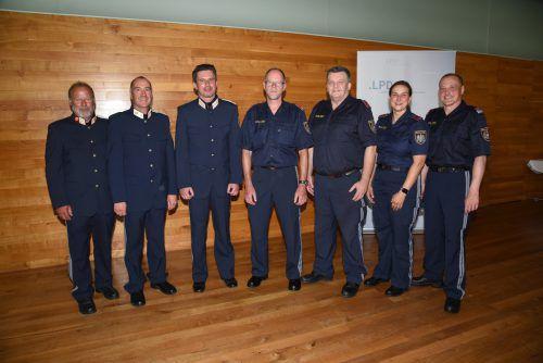 Das Team der Polizeiinspektion Lochau mit seinem neuen Leiter Kommandant Alexander Hamerl (dritter von links) schallert/LPD