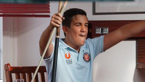 Der 15-jährige David Arda von den Pool Players Rankweil holte drei ÖM-Medaillen und zliefert bei seinem EM-Debüt eine Talentprobe ab. Verband