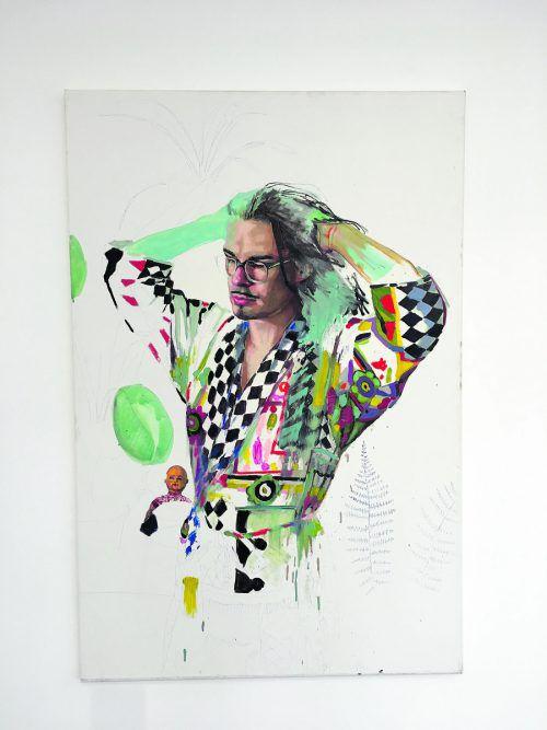 Der aus Polen stammende Künstler Michal Rutz zeigt Porträts von Personen aus seinem queeren Freundeskreis.VN/cd