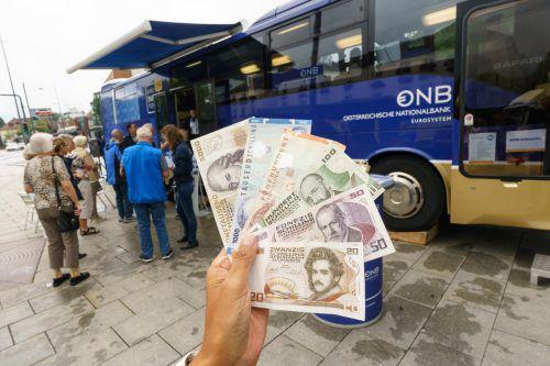 Der Euro-Bus hat in den letzten 16 Jahren im Land 32 Millionen Schilling umgetauscht. VN/stiplovsek