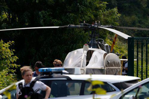 Der Hubschrauber wurde später rund 60 Kilometer vom Gefängnis entfernt gefunden.