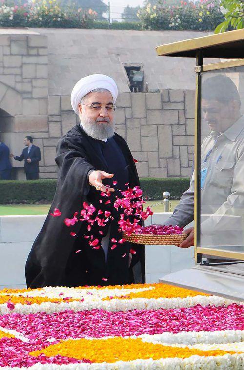 Der iranische Präsident Rohani kommt heute, Mittwoch, nach Wien.AFP