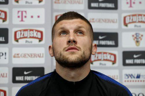 Der Kroate Ante Rebic blickt dem Viertelfinale gespannt entgegen.afp